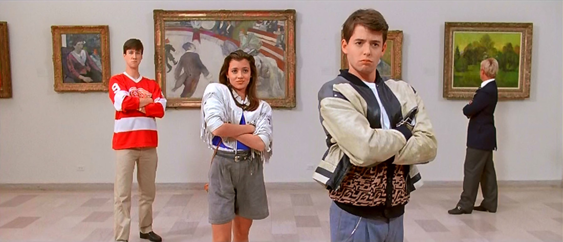 embrace your inner geek ferris bueller art museum